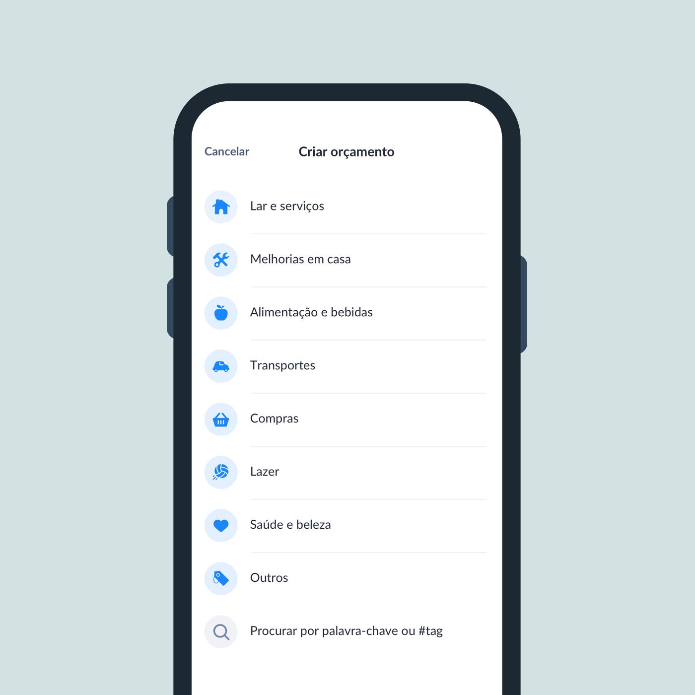 criar orçamento app dabox