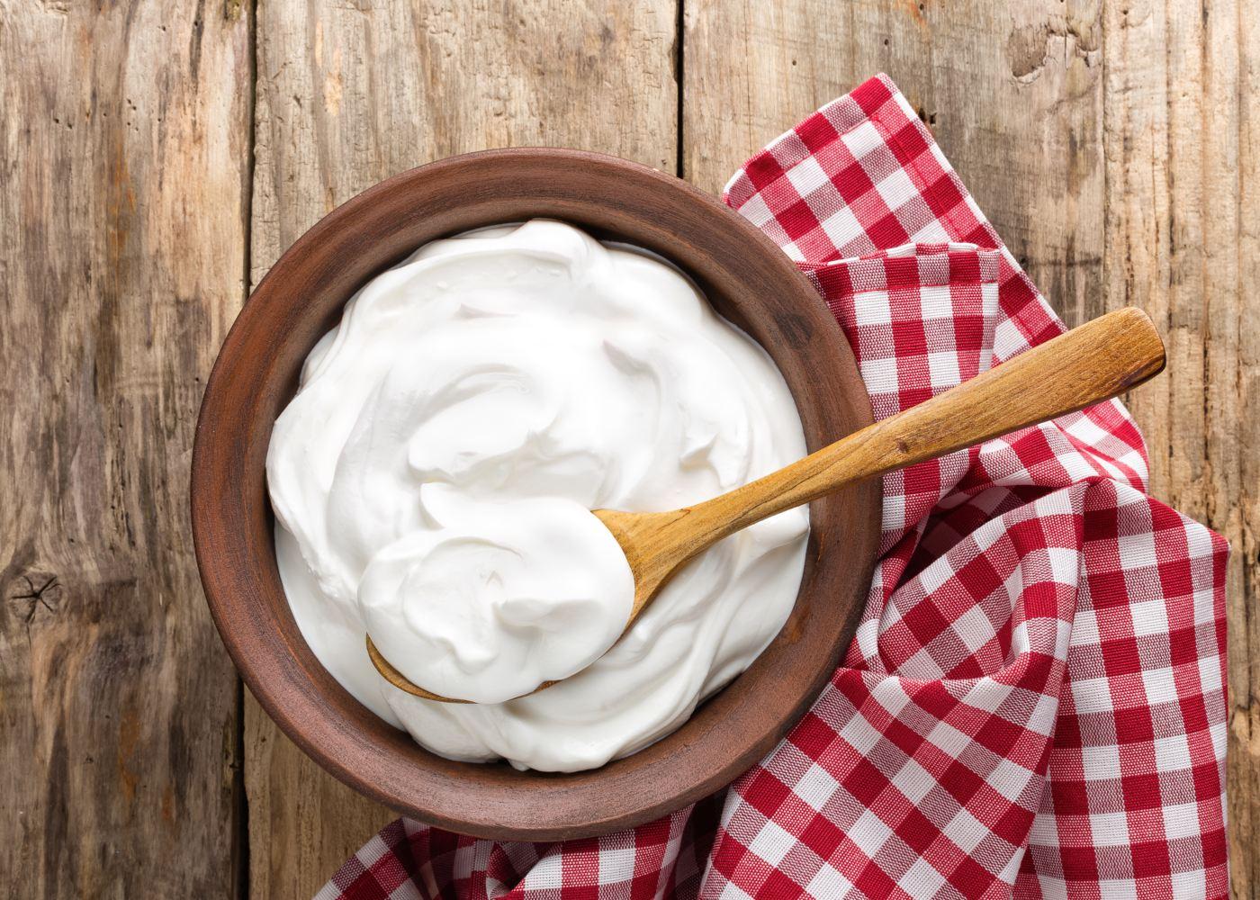 Taça de iogurte grego