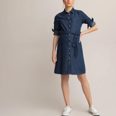 vestido azul la redoute