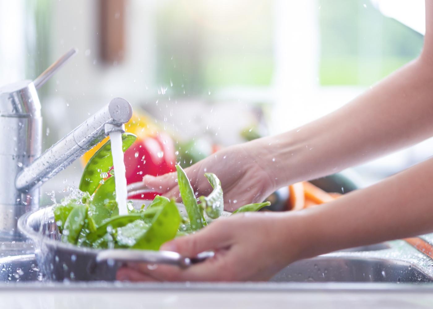 lavar legumes