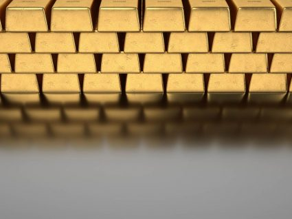 barras de ouro ilustrativas das reservas de ouro de Portugal