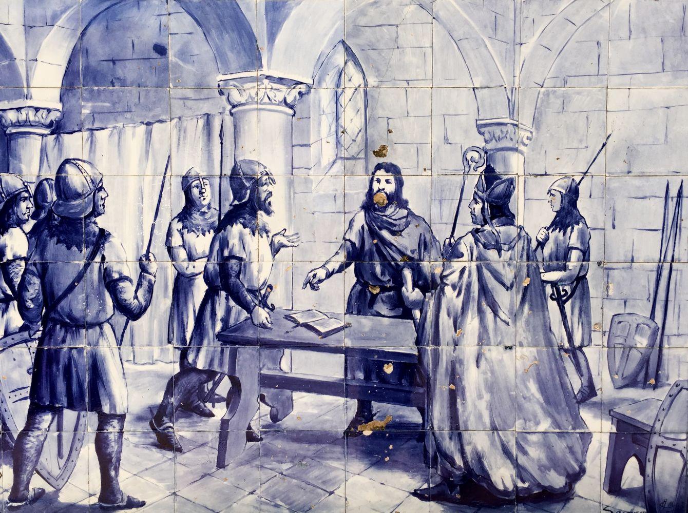 Assinatura do Tratado de Zamora a 5 de outubro de 1143