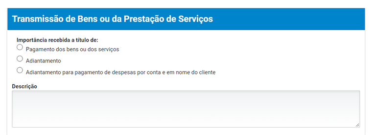 descrição serviço