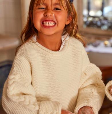 Camisola de menina para o Natal