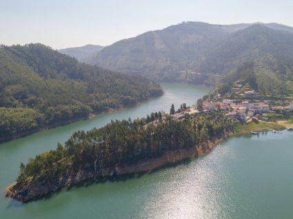 Vista aérea de Dornes