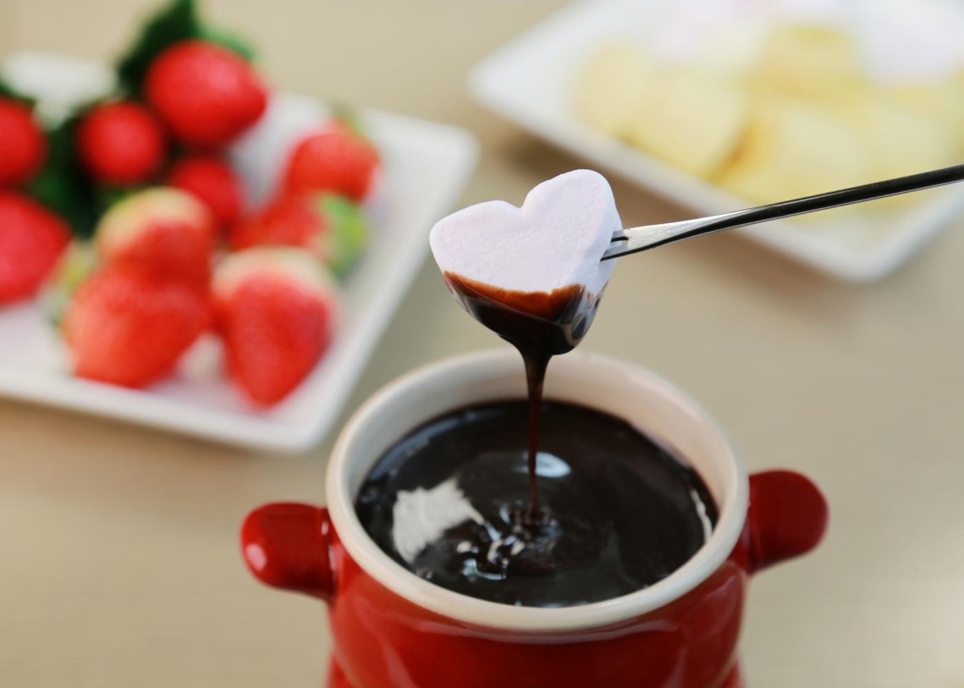 fondue de chocolate com leite condensado