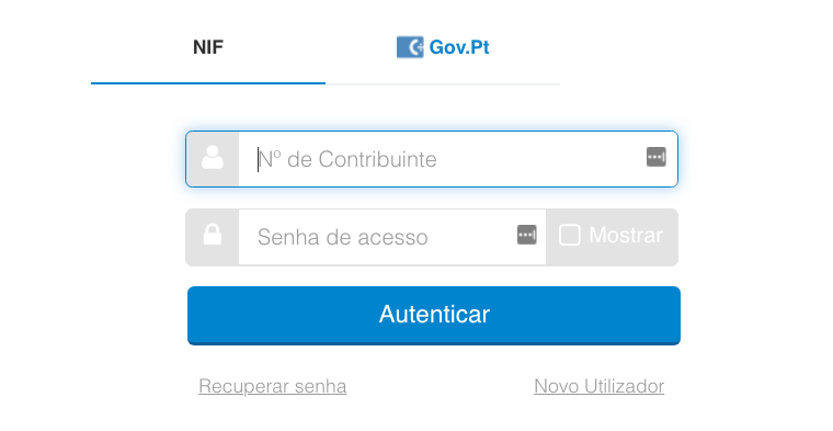 login-portal-financas