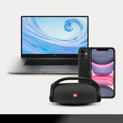 portátil e smartphone