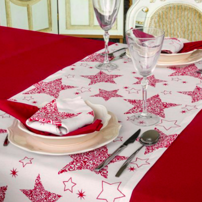 Runner De Mesa Natal Red Star