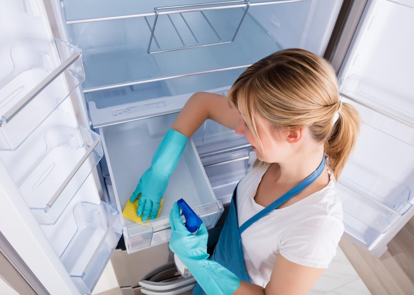 como deve limpar o frigorífico