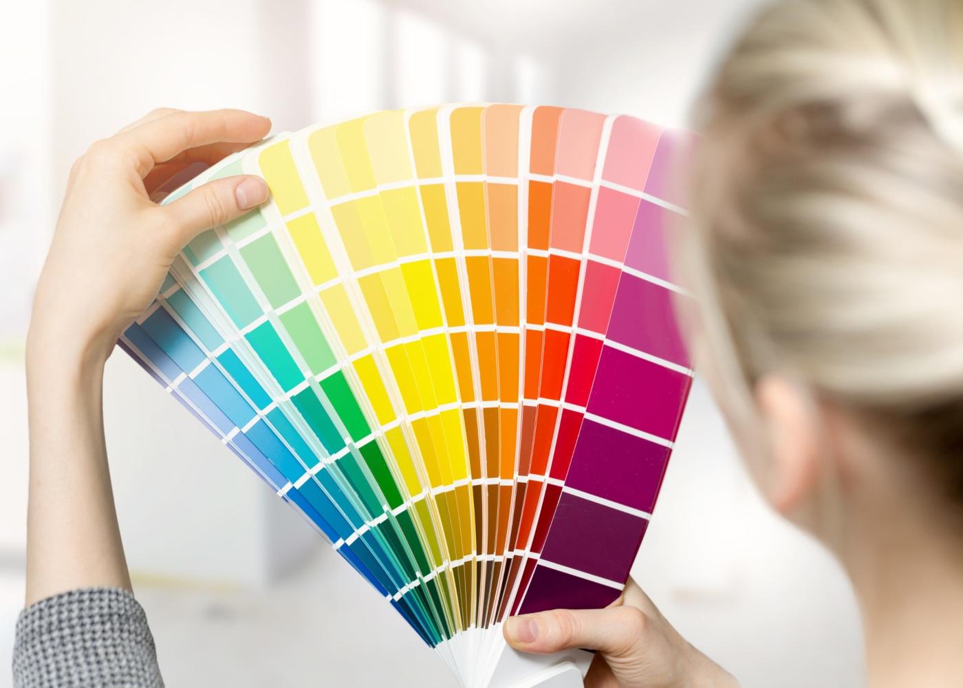 escolher cores de decoração