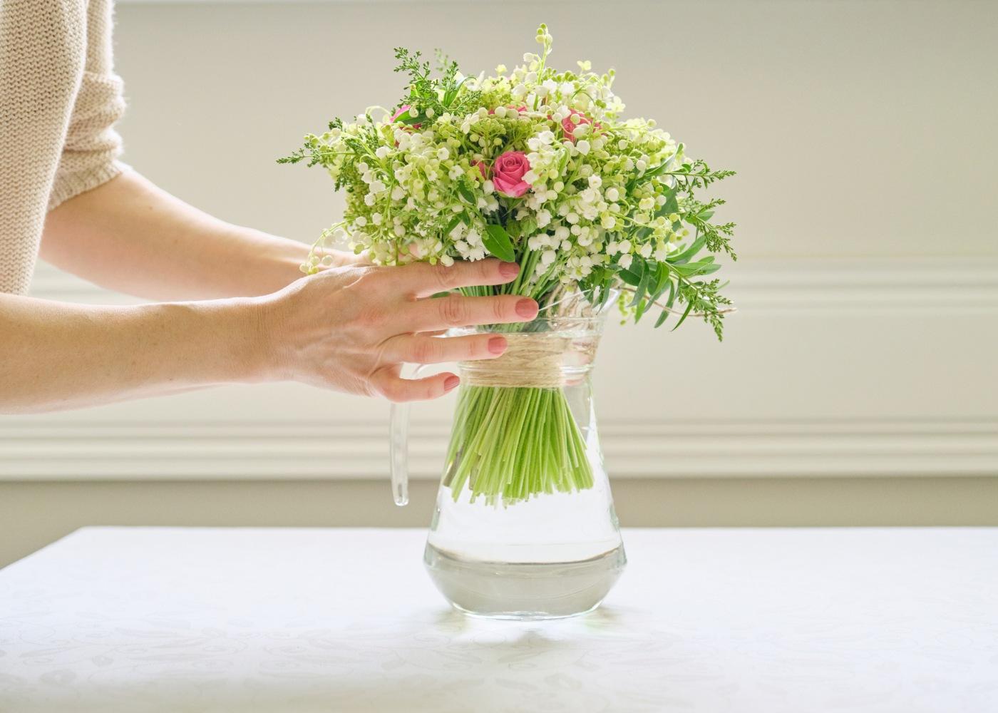 jarra de flores