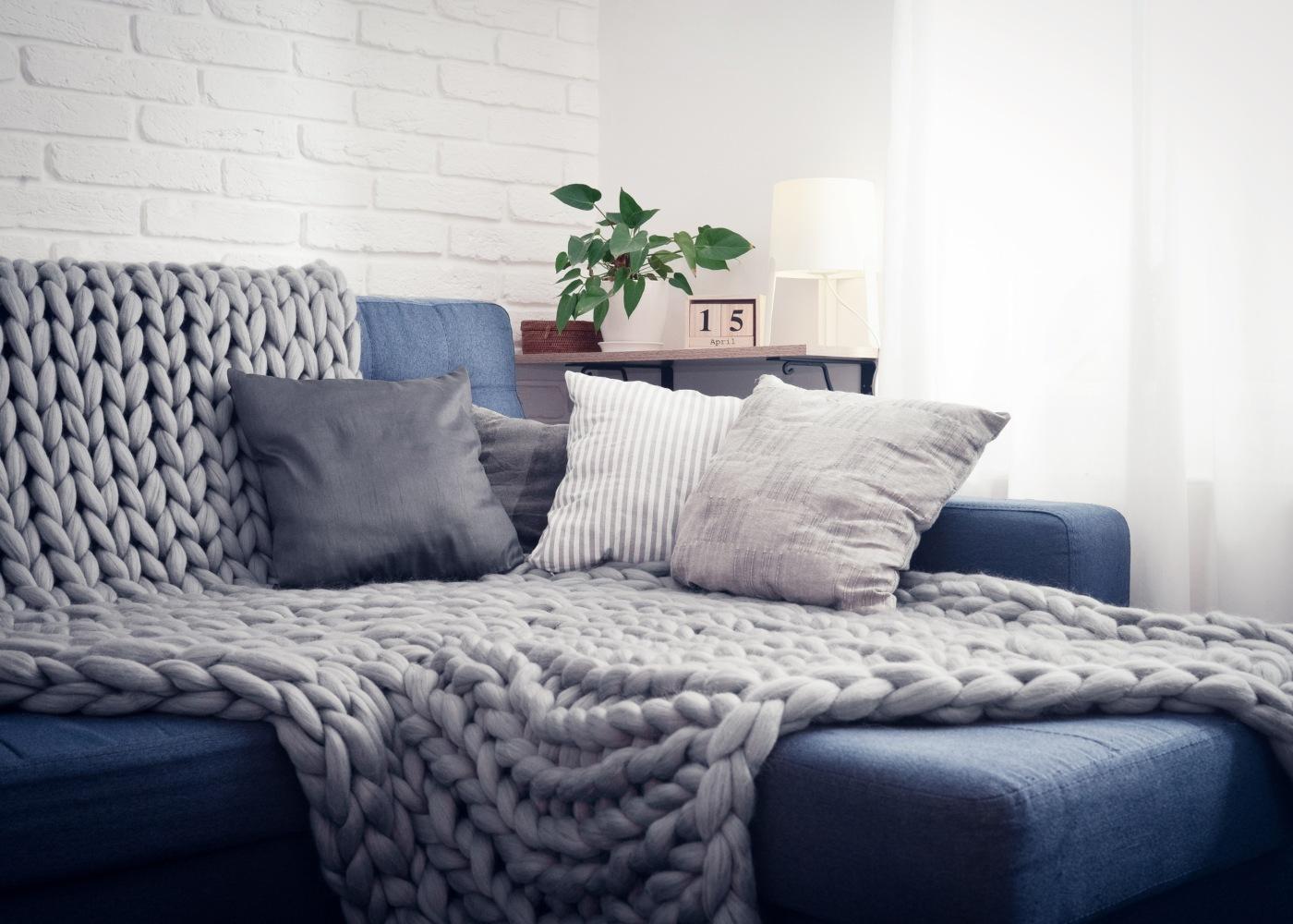 manta de lã para sala