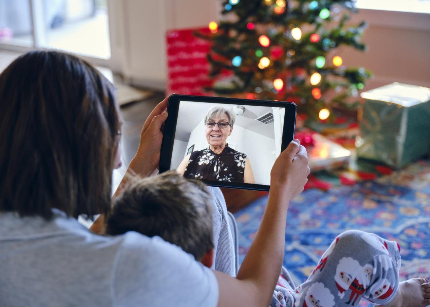 natal família videochamada