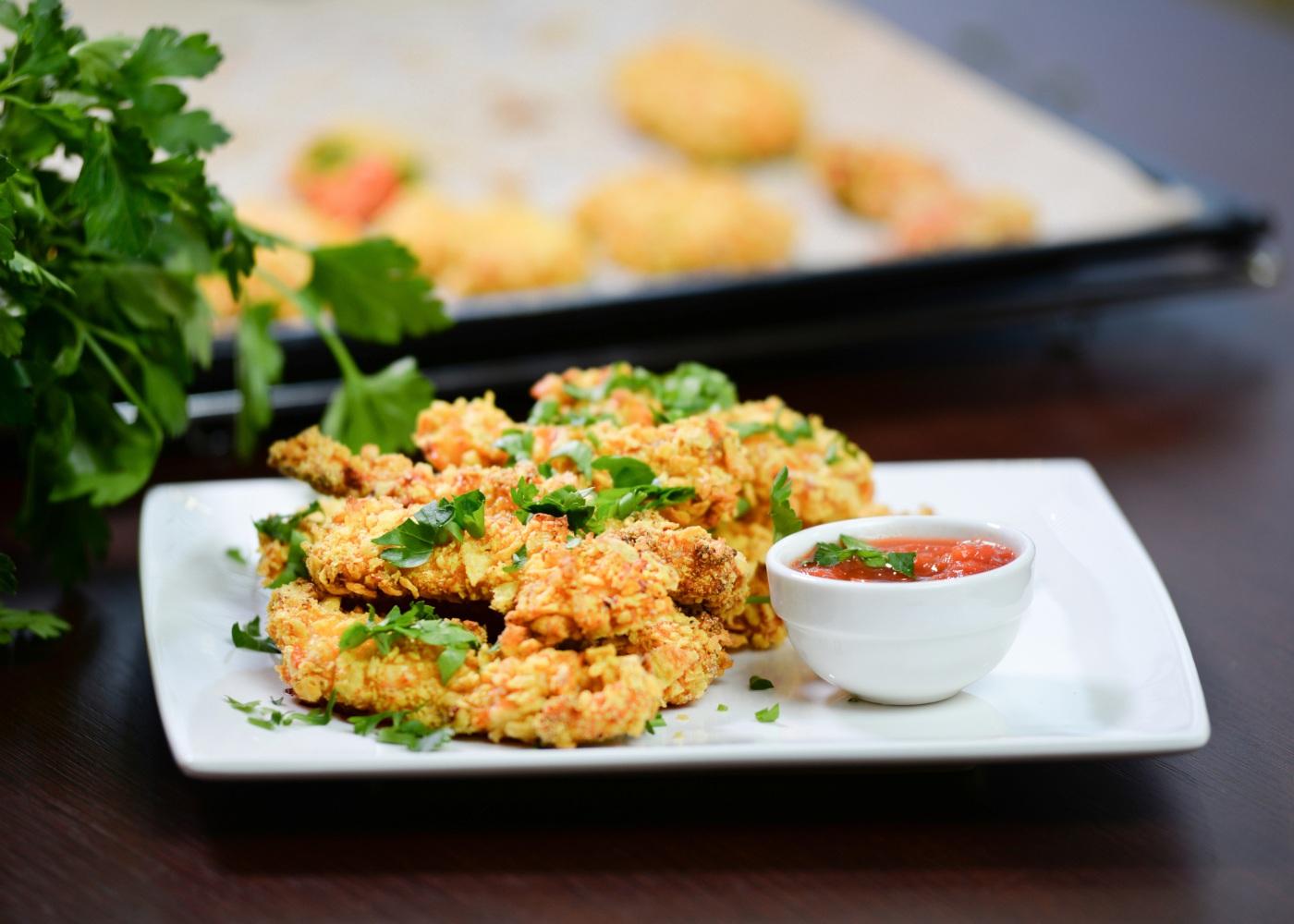 nuggets de bacalhau no forno