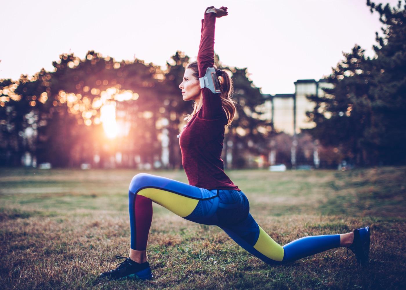 Jogging a treinar ao frio