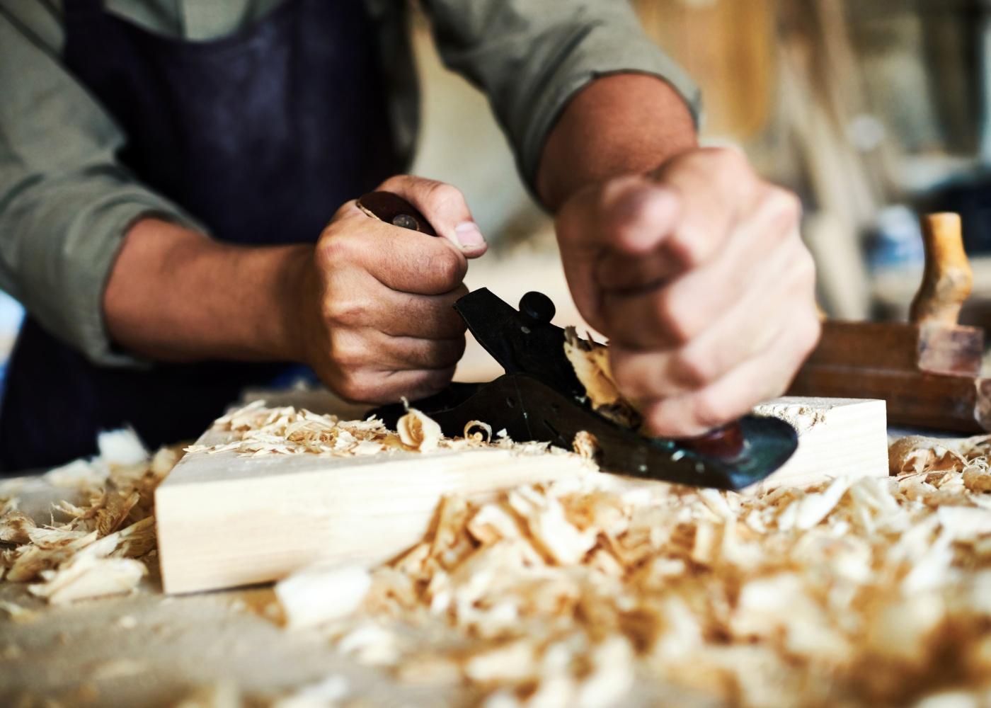 artesão trabalho madeira