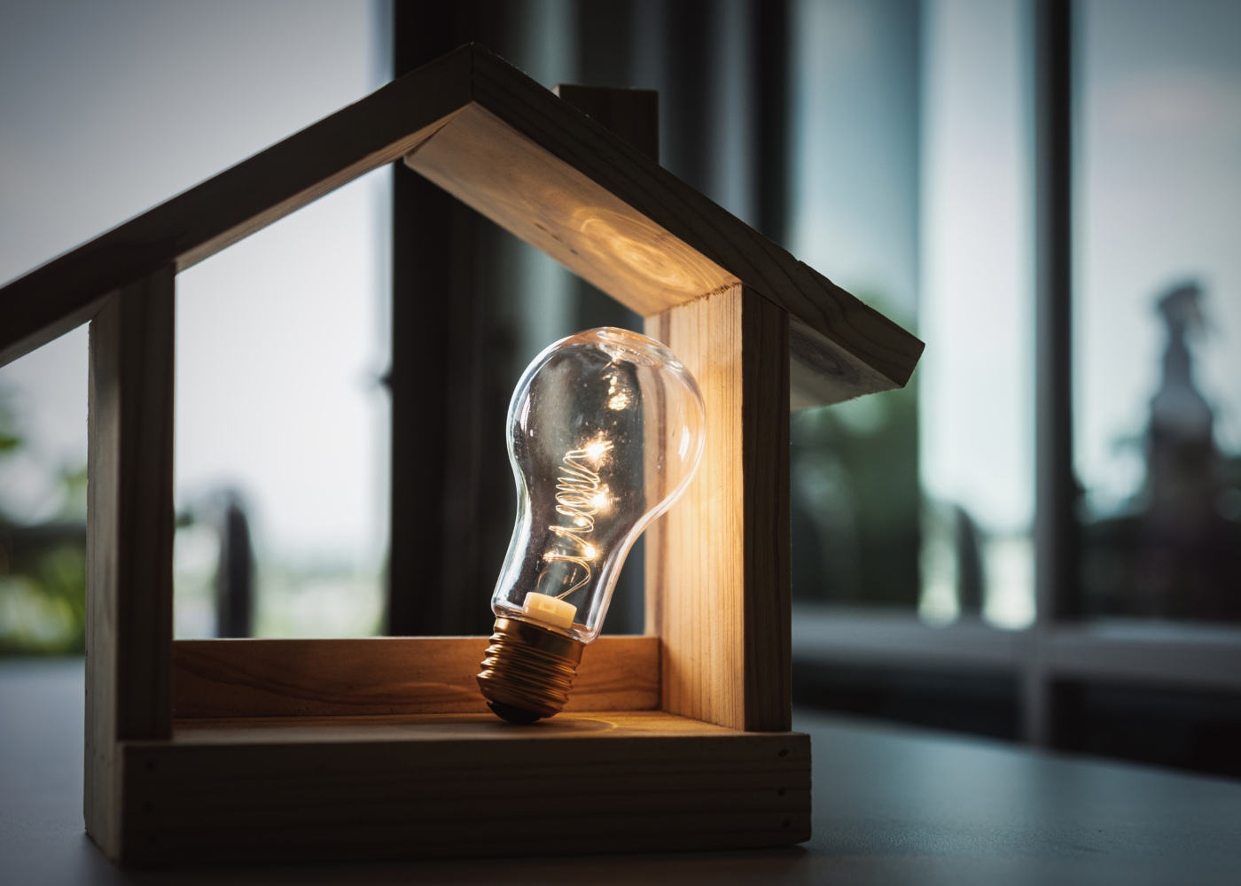 poupar luz em casa