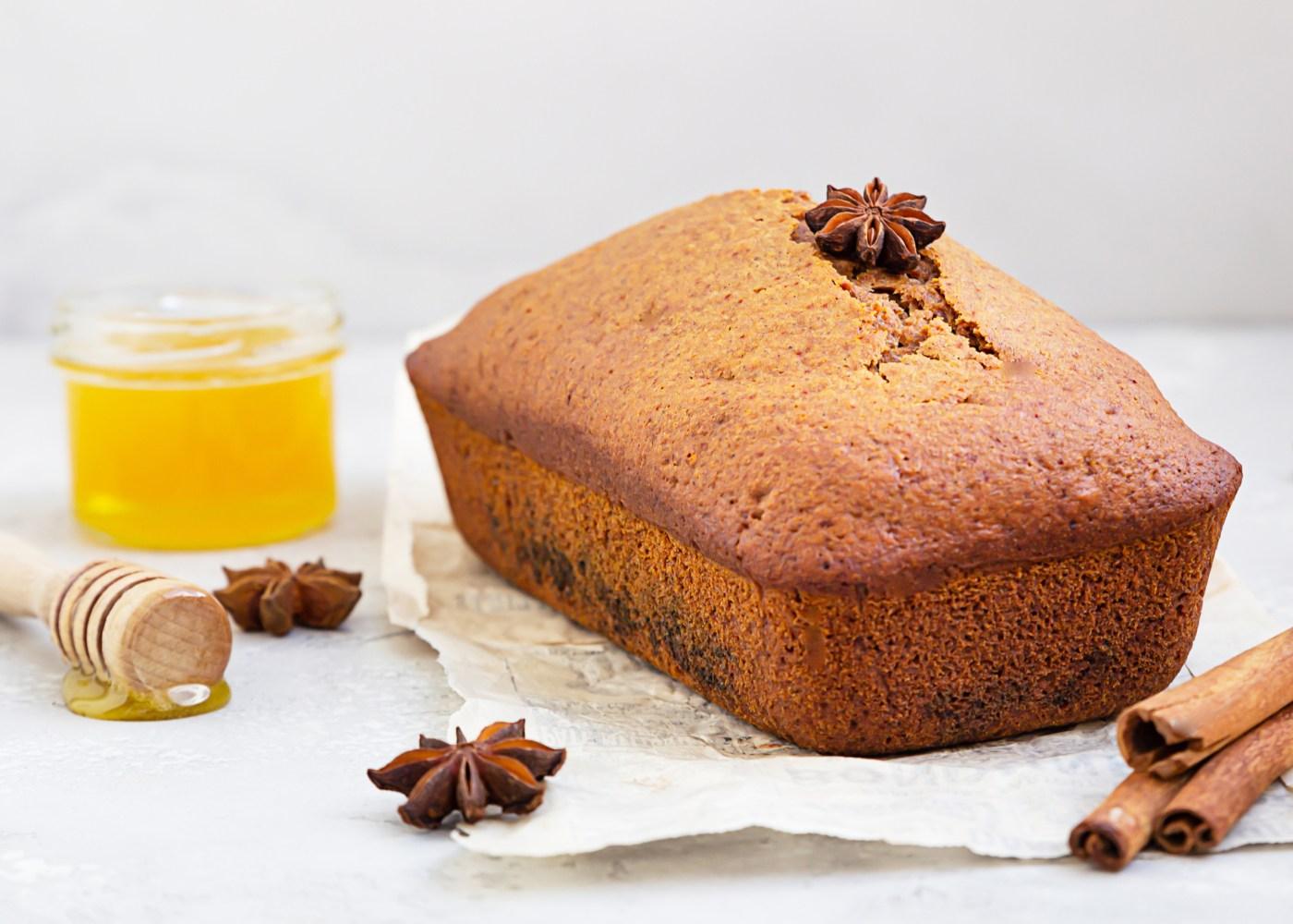 bolo de canela e mel