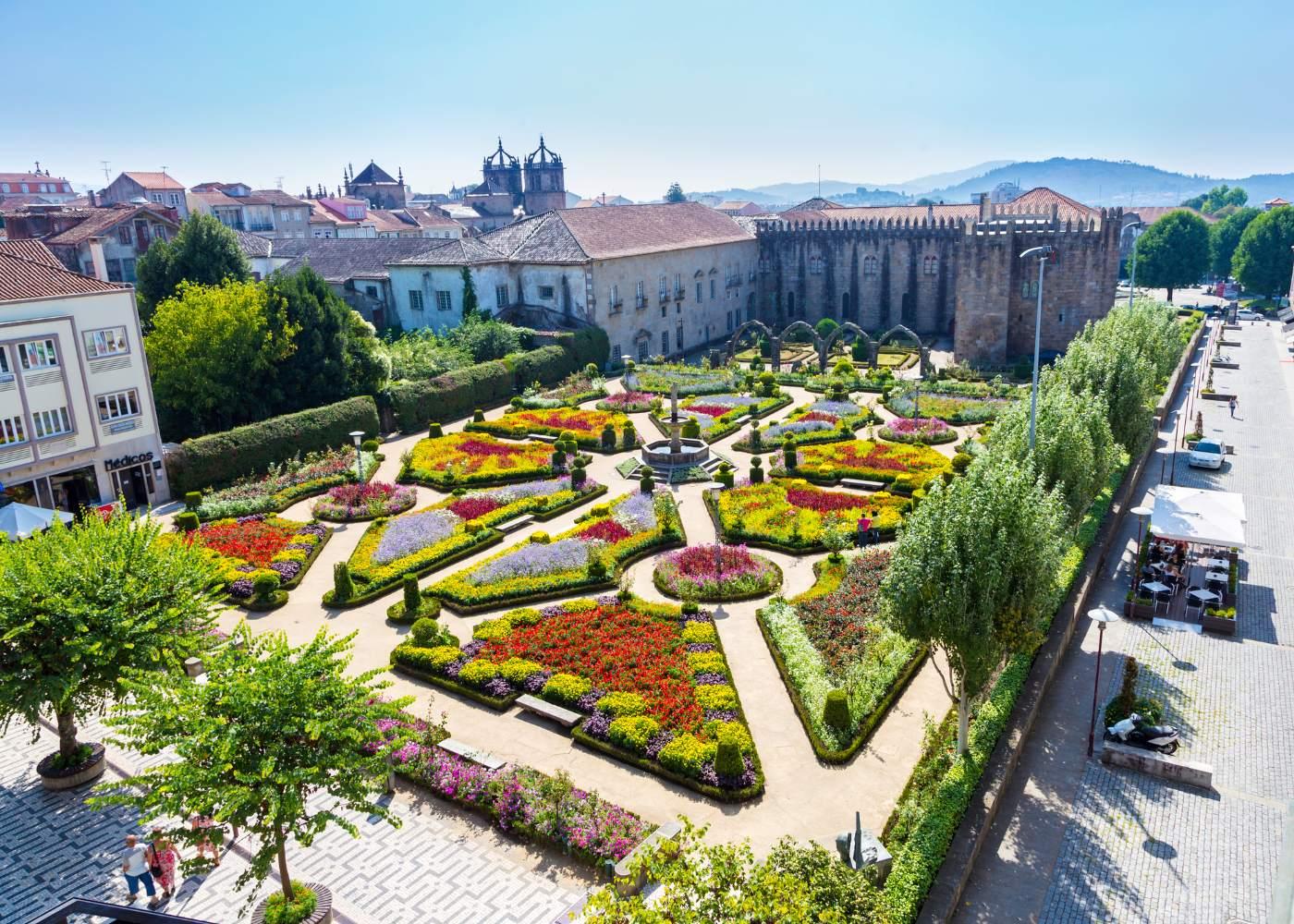 Jardim no centro de Braga