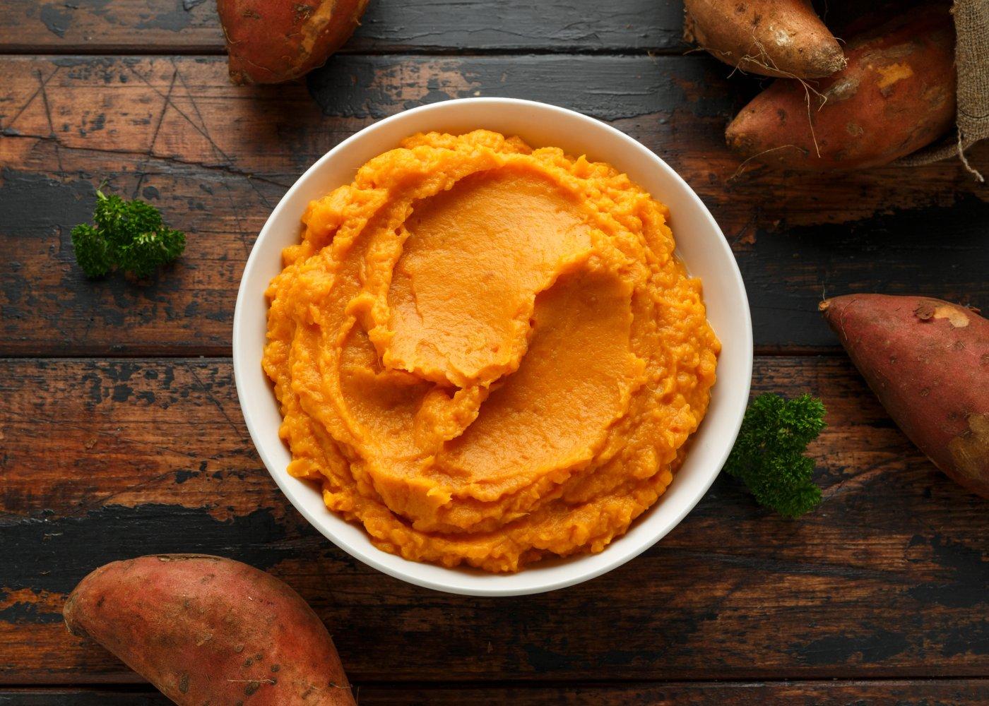 Puré de batata-doce e cenoura