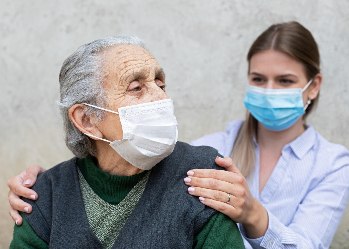 Idosa com Alzheimer
