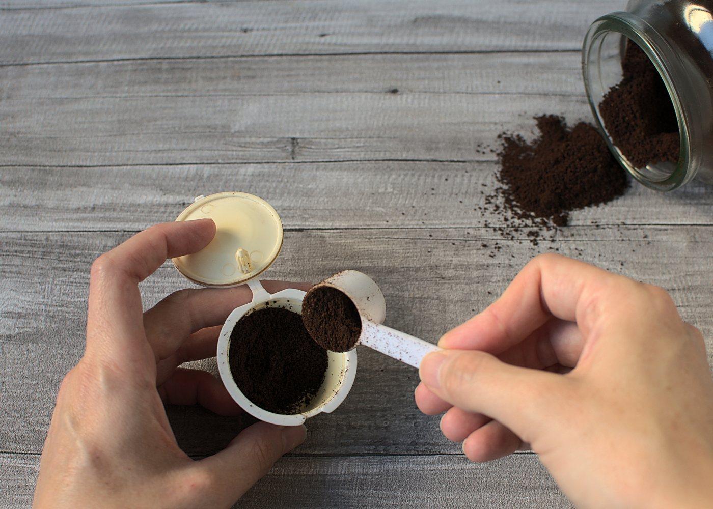 cápsula de café reutilizável