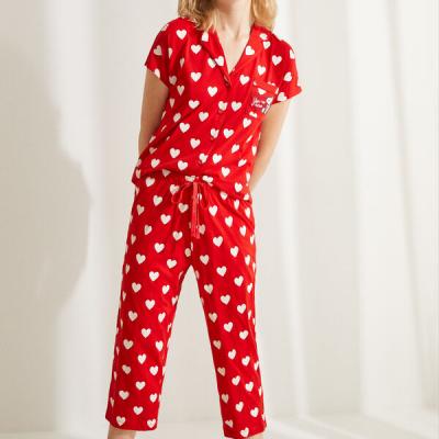 pijama vermelho coracoes