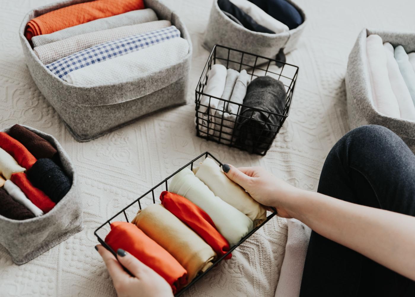 roupa dobrada e organizada