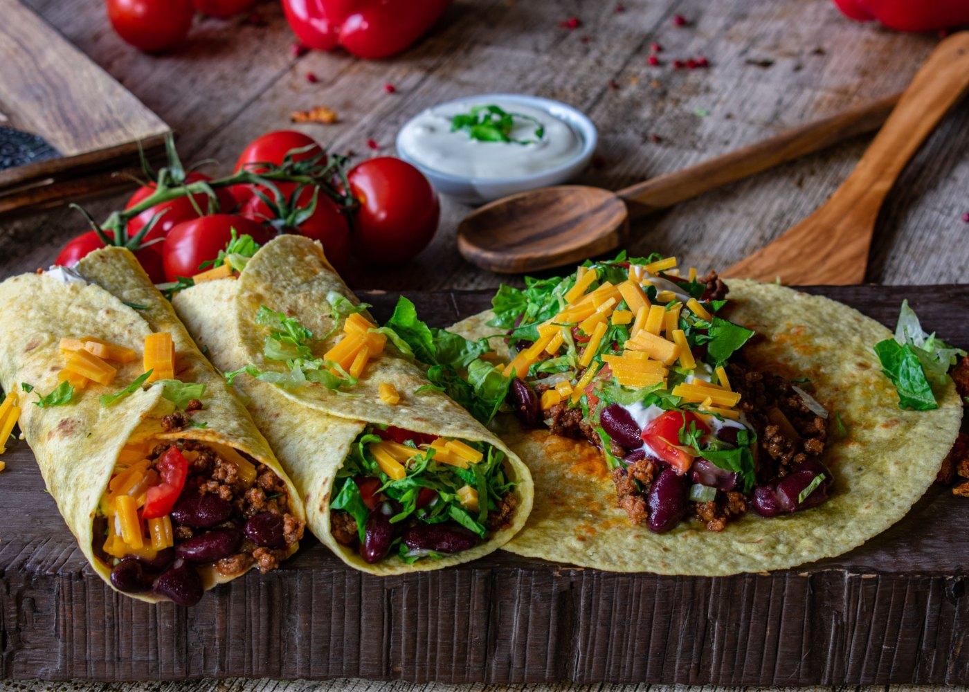 Tortilhas mexicanas com chili