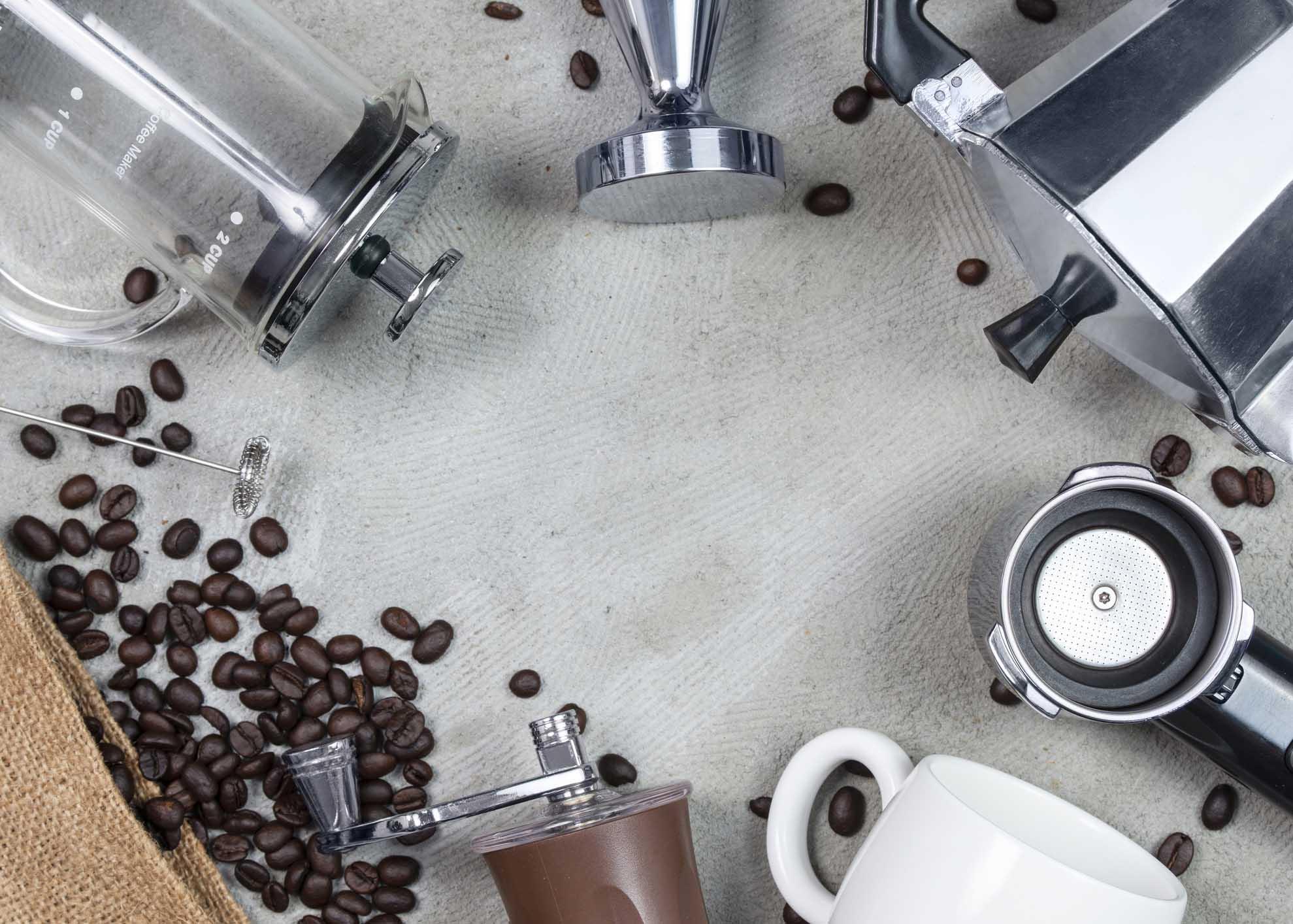 diferentes máquinas de café