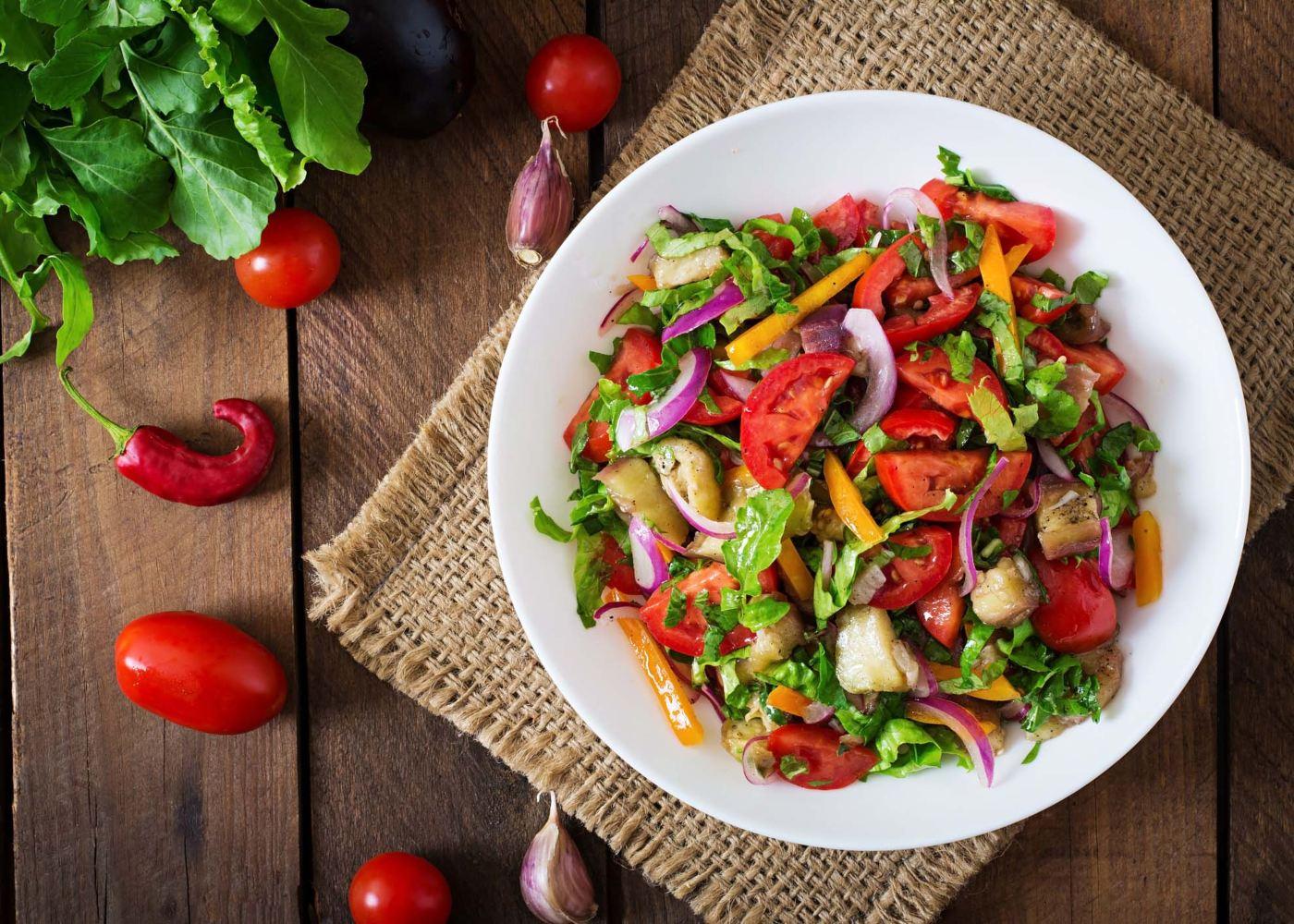 Salada do mar low carb