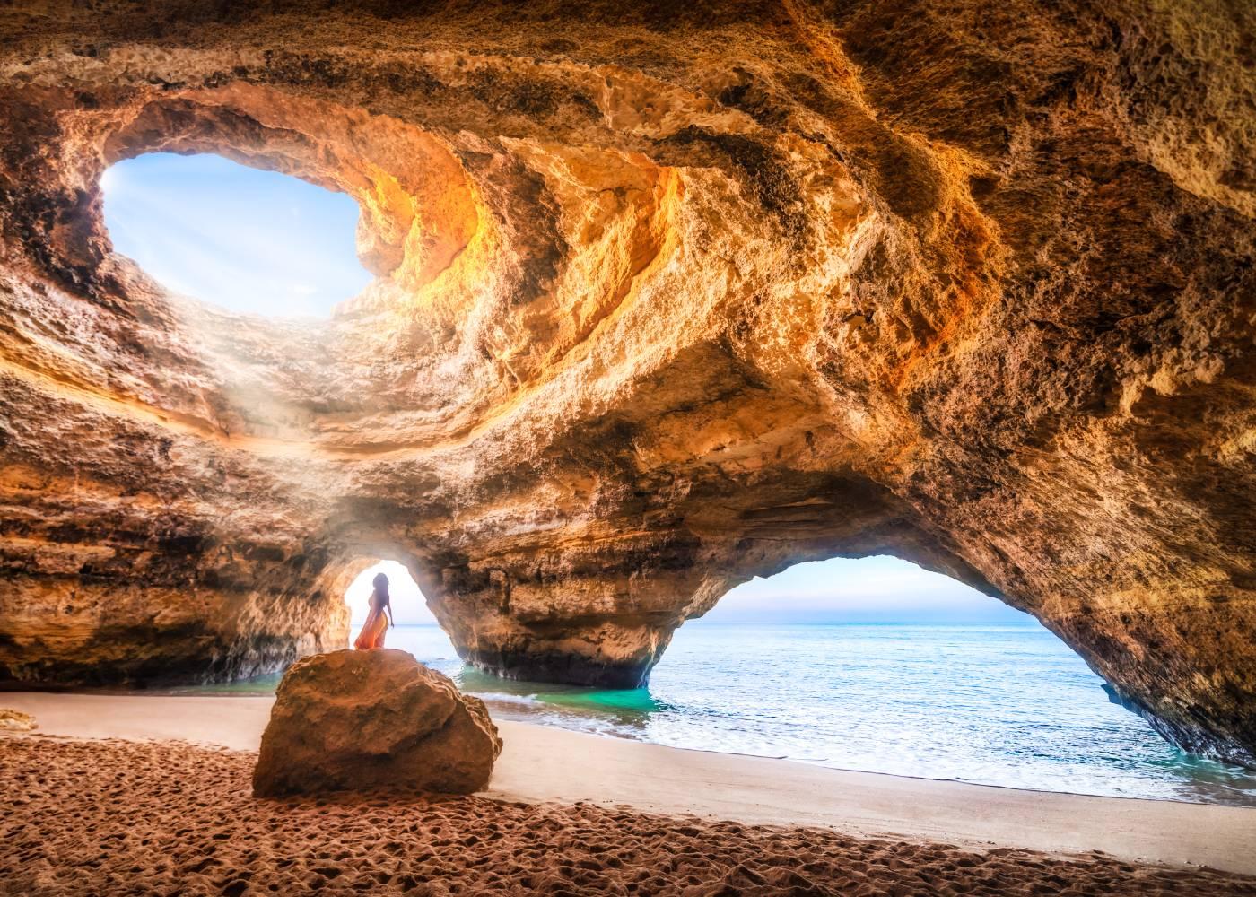 Gruta de Benagil no Algarve