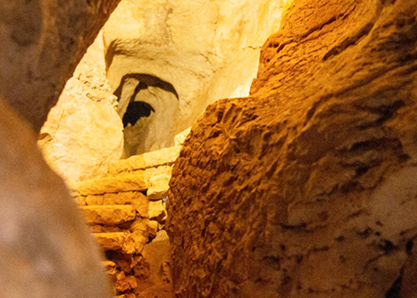 Pormenor das grutas do Poço velho