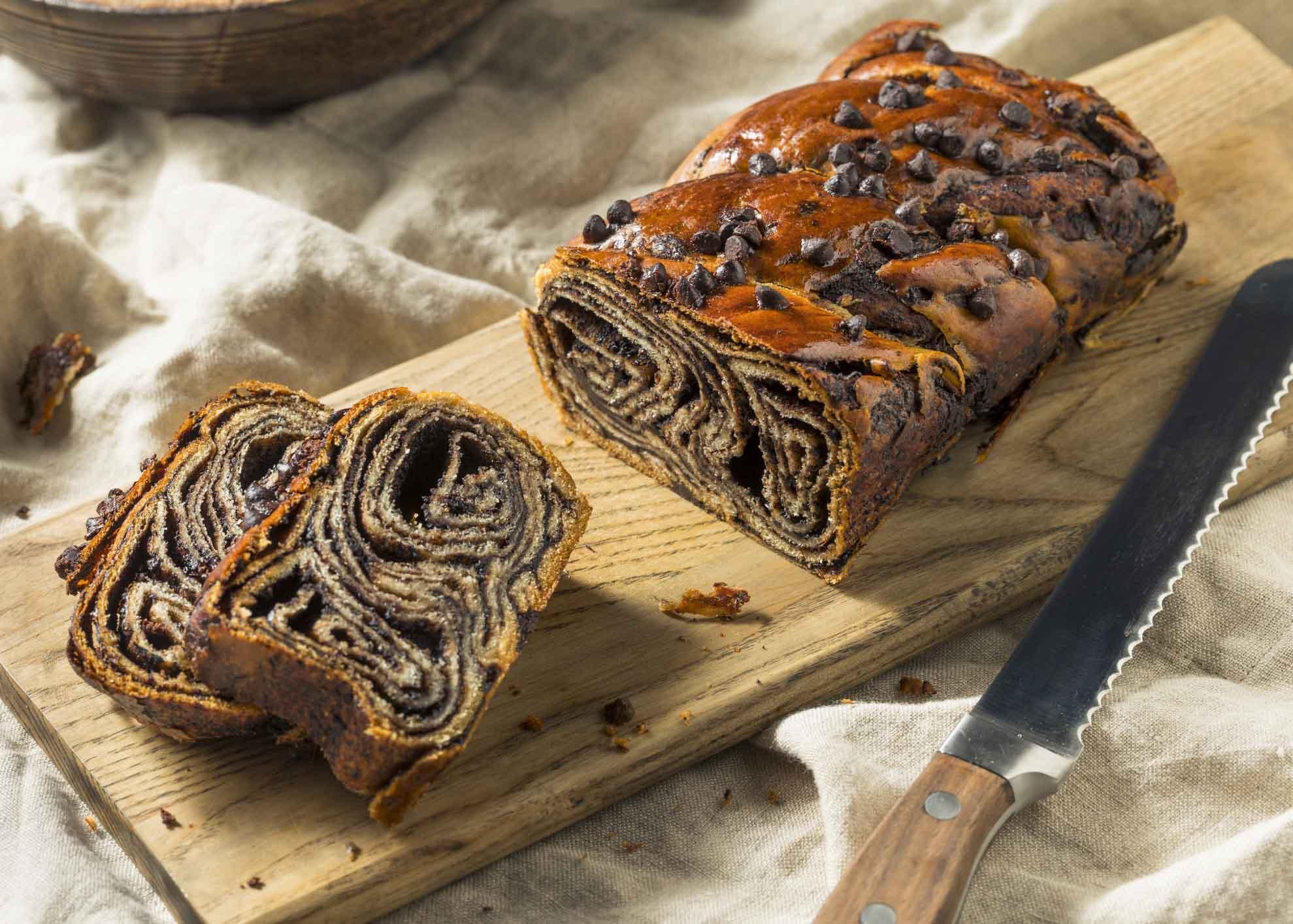 pão doce de chocolate