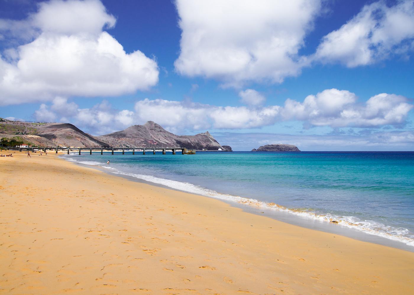 vista da praia Porto Santo