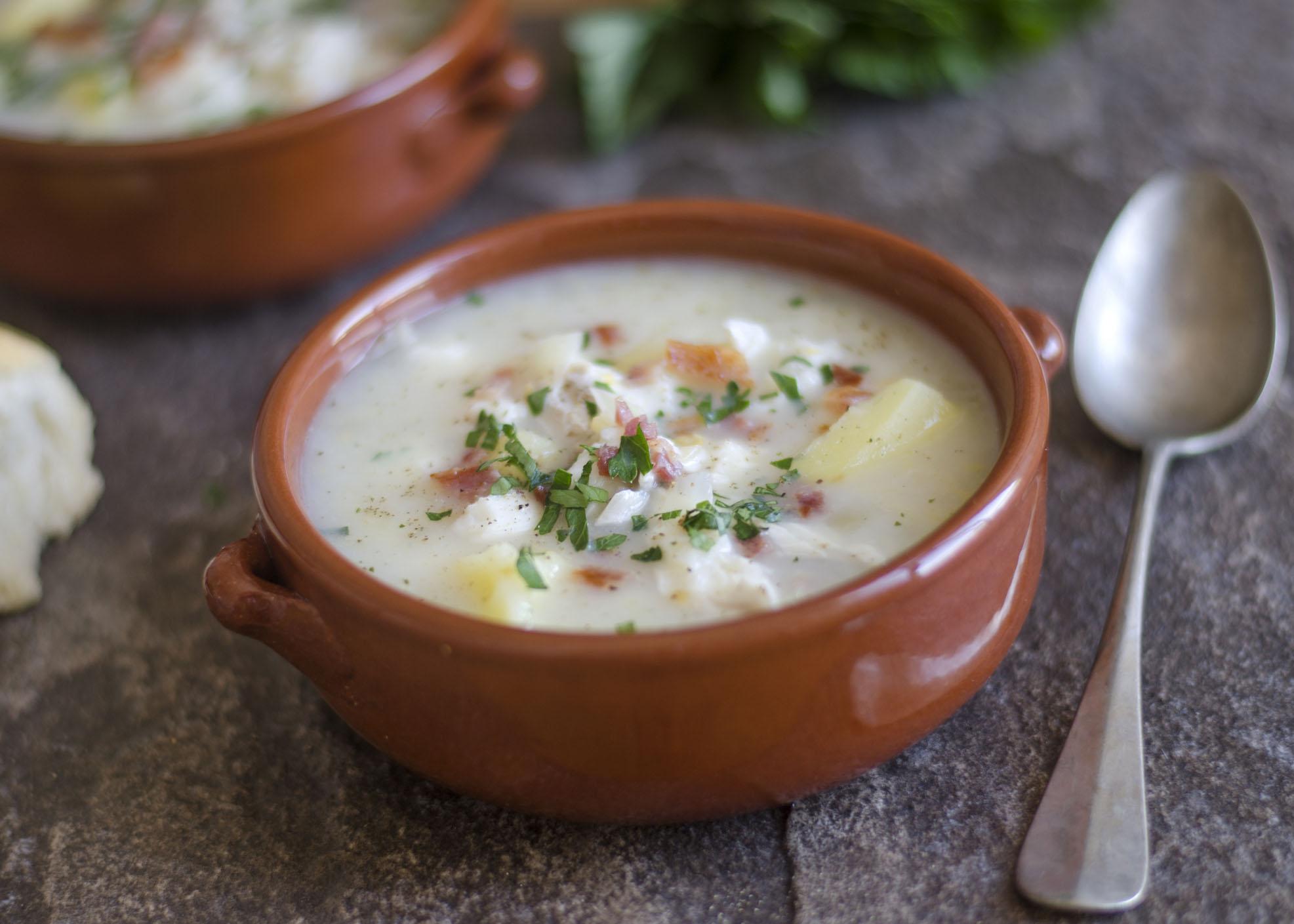 sopa de cação com poejo