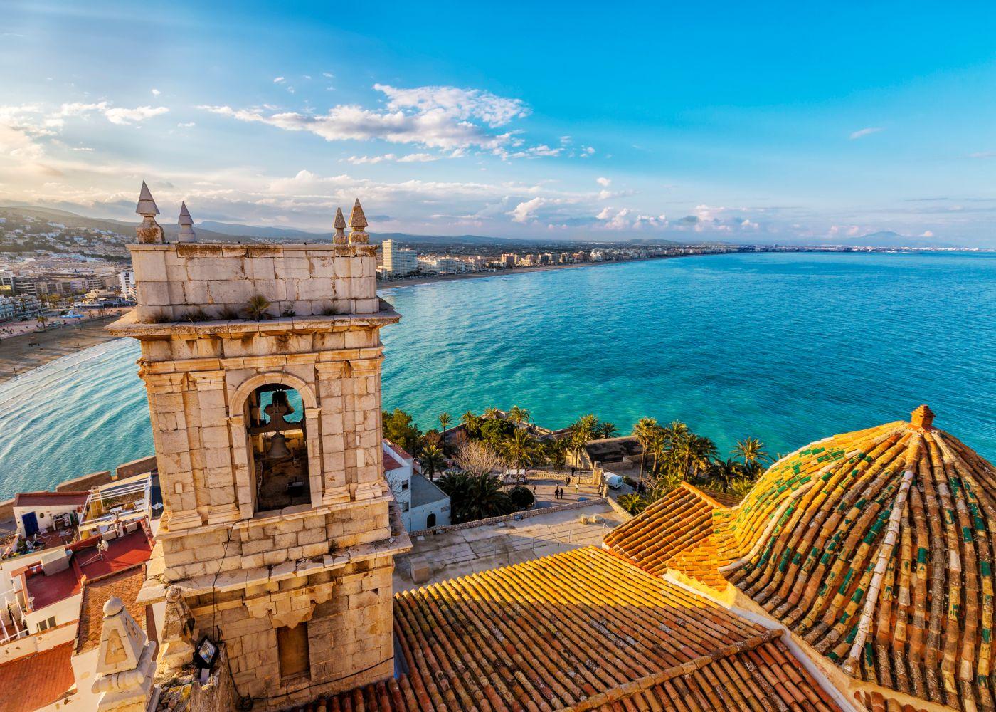 vista sobre o mar em peñiscola