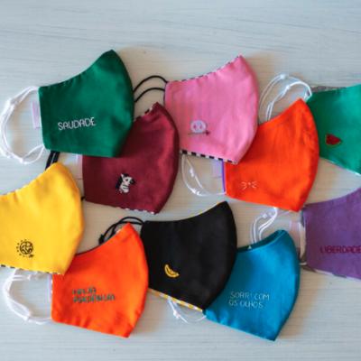 pack máscaras coloridas