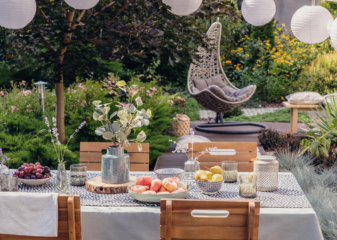 decorar jardim mobiliário
