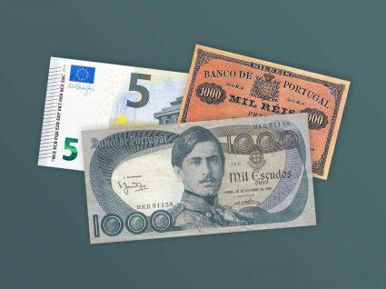 Réis, escudos, euros