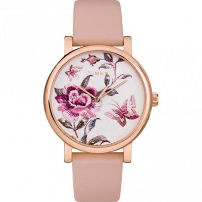 relógio com flores