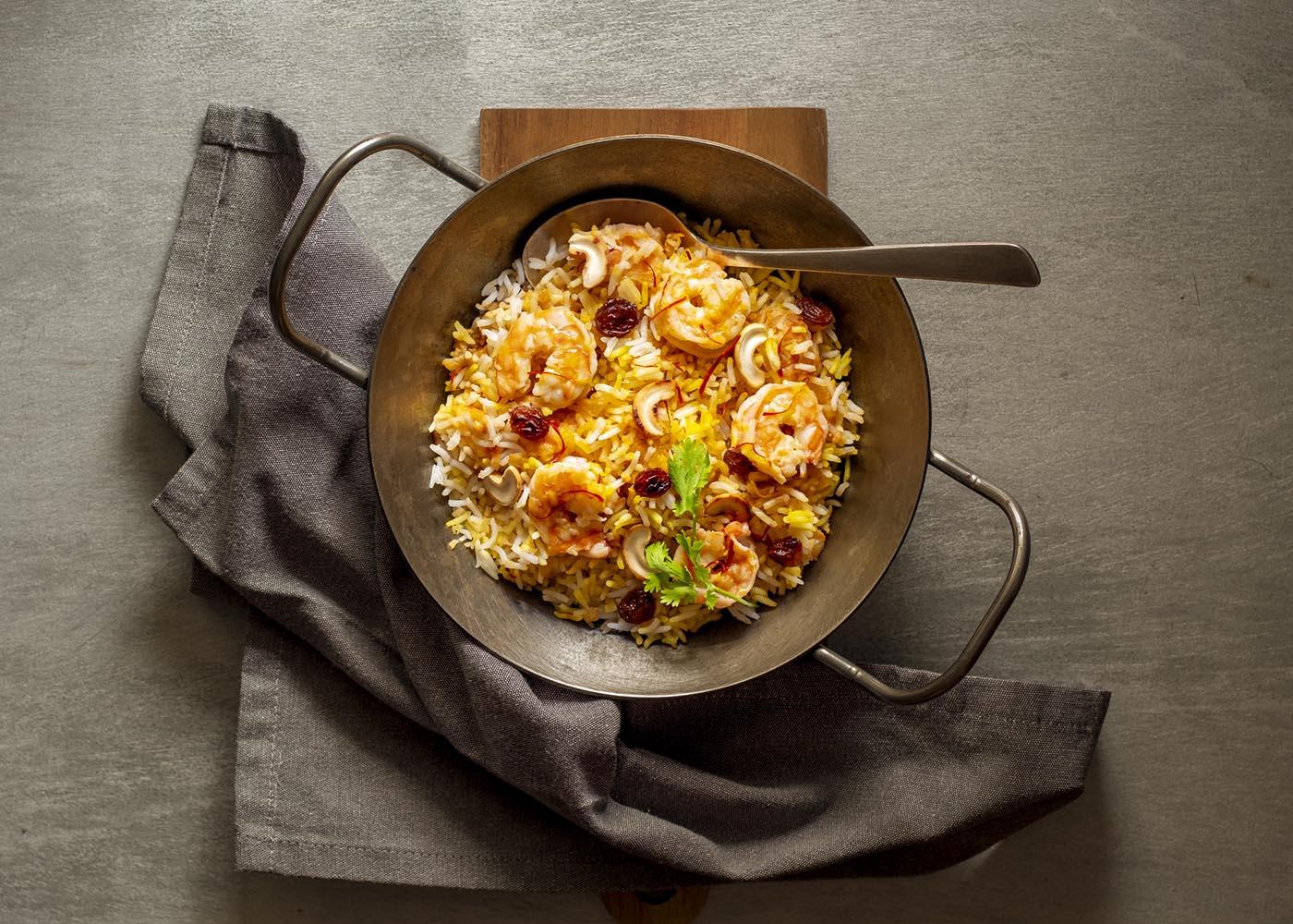 arroz de pota e camarão
