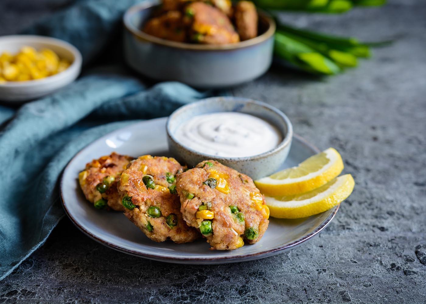 Croquetes de atum e legumes