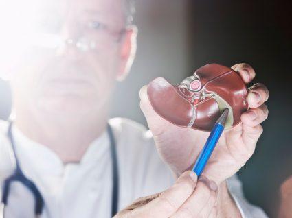 médico a mostrar vesícula