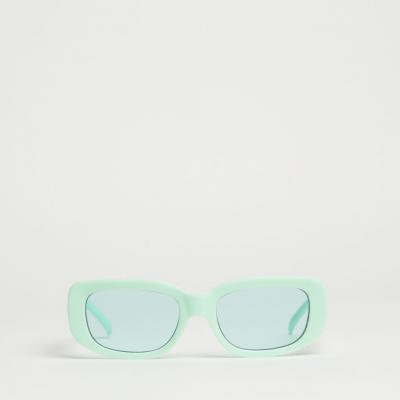 óculos de sol com armação menta