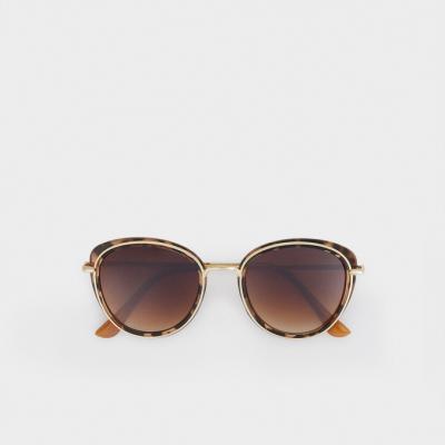 óculos de sol metálicos redondos
