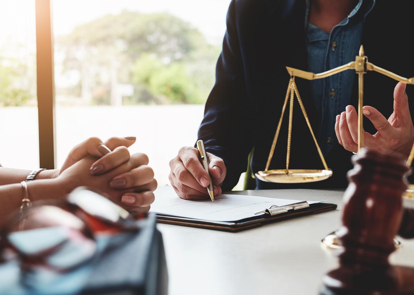 solicitar apoio jurídico