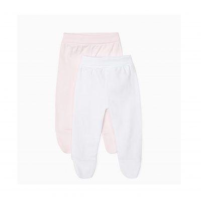 Calças de recém-nascido com cintura subida