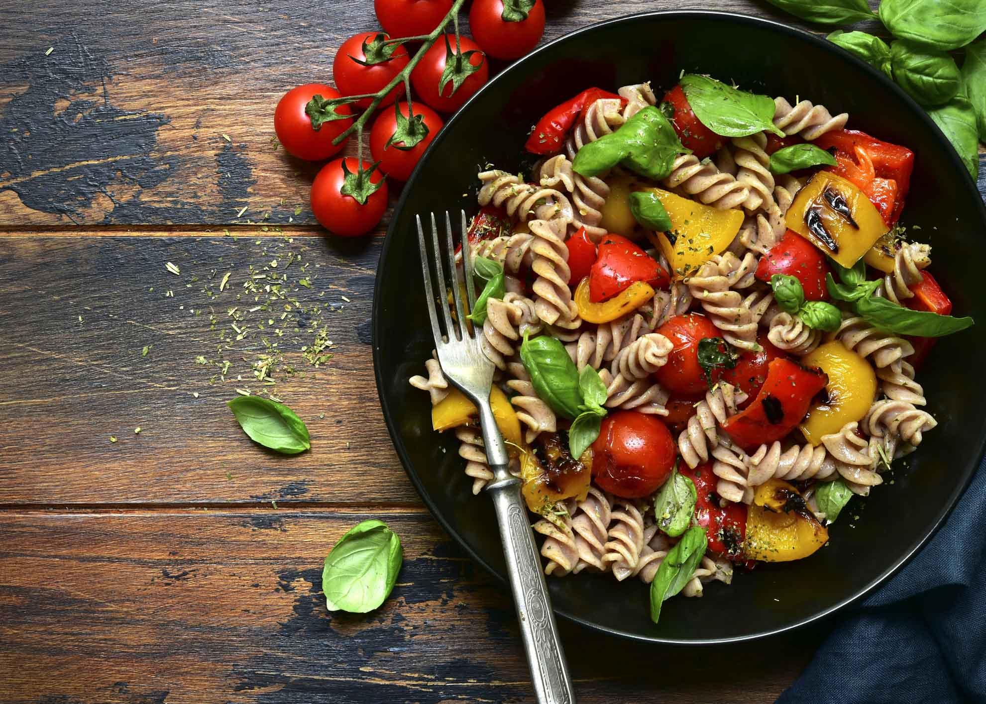 Fusilli com legumes